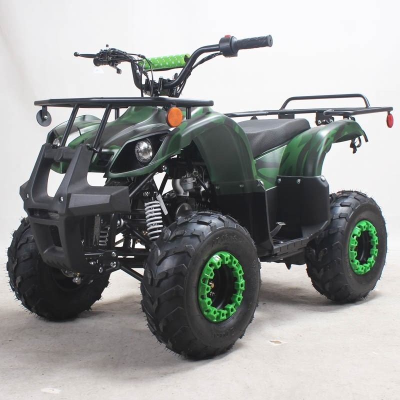 125cc Gas ATV Kids with Utility style rack, Automatic/w Reverse, 16inch Tire, Remote shut off switch