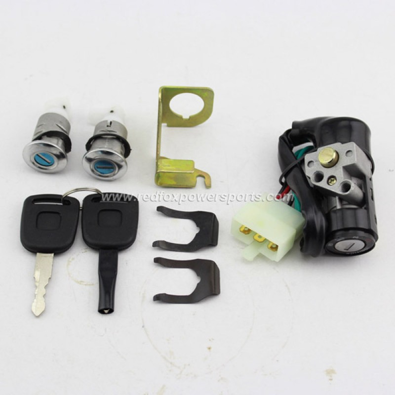 Ignition Key Switch Lock Set for 50-150cc GY6 Moped Scooter