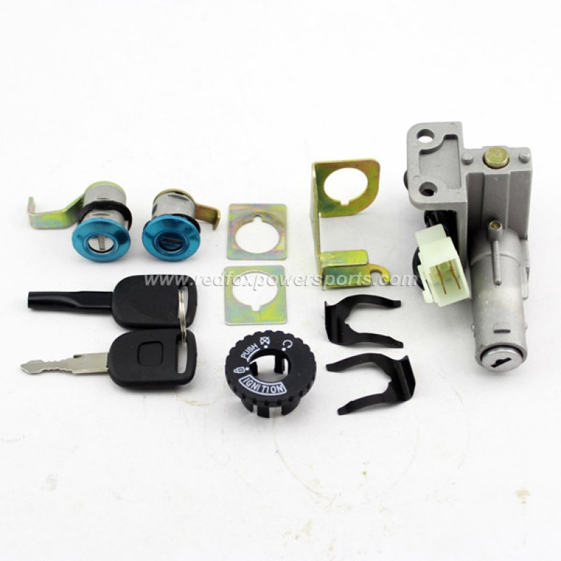Ignition Key Switch Lock Set 50-150cc GY6 Moped Motorcycle Scooter