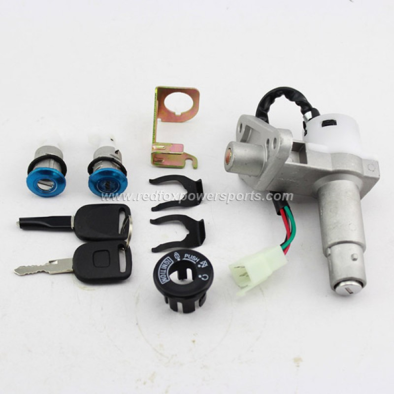 Ignition Key Switch Lock Set GY6 50-150cc Moped Scooter