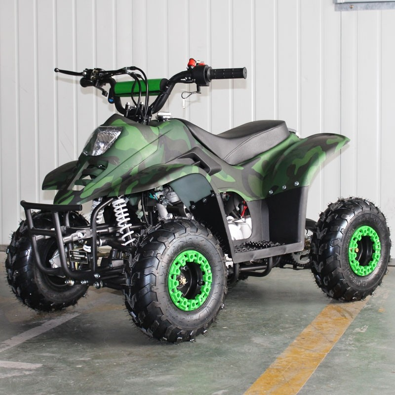 110cc Gas ATV DF110AVA Kids ATV with 6inch wheel, electric start, remote shut off switch (Refurbish, Paint Chip, Damage Light lens, SELL AS IS)