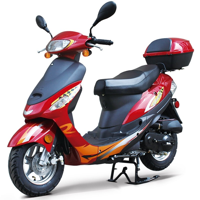 50cc Gas Scooter Moped Express with Auto Transmission (Refurbish with 109 miles, SOLD AS IS)