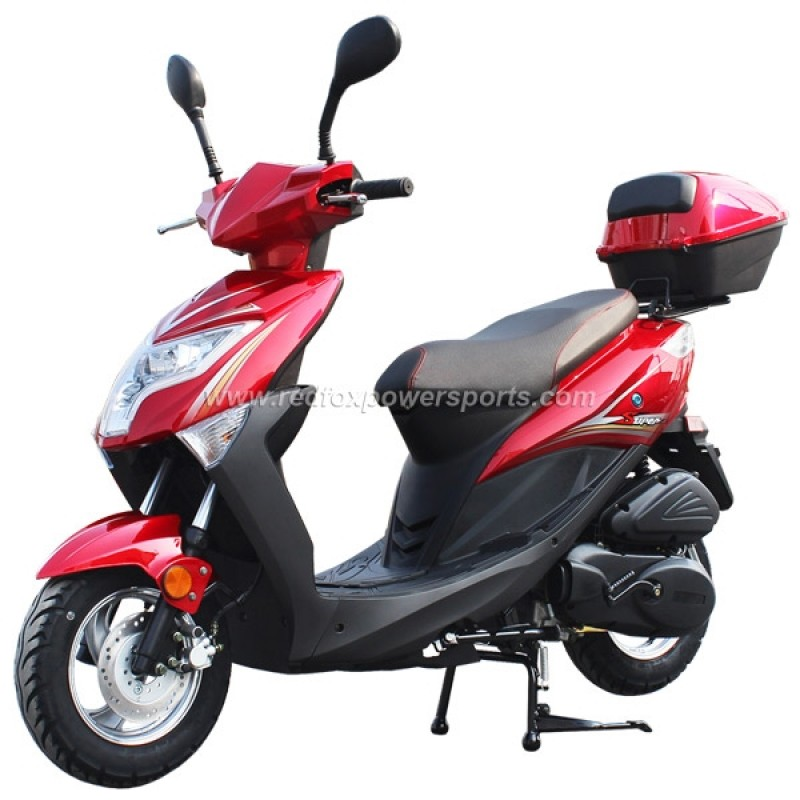 150cc Gas Scooter Moped STC with Auto Tranny (Refurbish, Damage on seat and side skirt, SOLD AS IS)