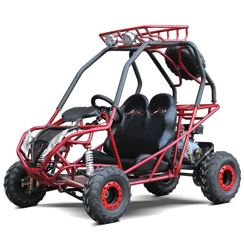 200cc GVA Go Kart, Auto with reverse, High Power Engine, Front/Rear Independent Suspension, Remote Control Shutoff, Spare Wheel