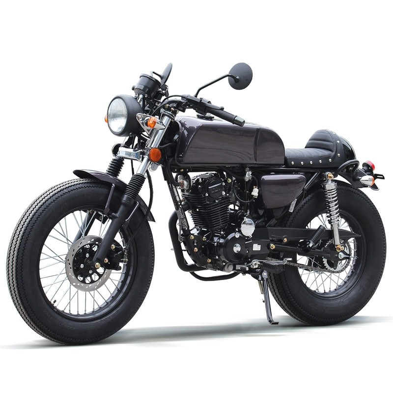 250cc Motorcycle RTD Retro Bike, 5spd, F17/R15 Wheels with Beefy Tire