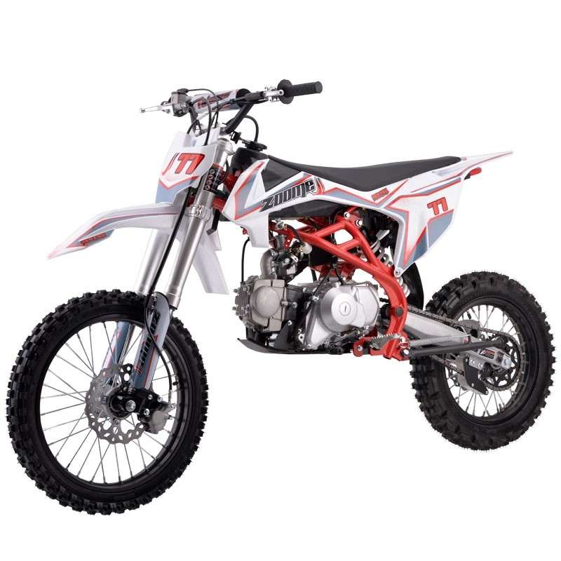 125cc Dirt Bike RF ZOOME K3-125 with 4 Speed Manual, Electric/Kick Start, Big F17/R14 Wheel, Perimeter Cradle Type Steel Frame, Inverted Fork