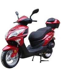 200cc Gas Moped Scooter Falcon RED, 200cc Automatic CVT Engine, Big Wheel and Body
