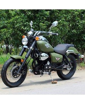 250cc Motorycle RTR Retro style Bike, 5spd manual, Dual Muffler