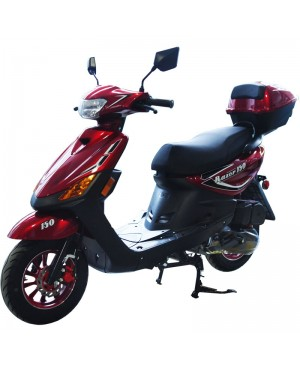 150cc Moped Scooter Razor 150 RED with New Design Sporty Look, Electric and Kick Start, Low Seat Height