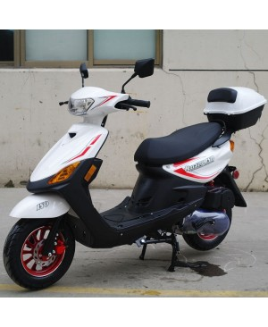 150cc Moped Scooter Razor 150 WHITE with New Design Sporty Look, Electric and Kick Start, Low Seat Height