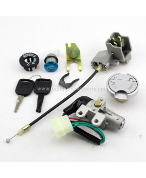 New Ignition Key Switch Lock Set for Chinese GY6 50-150cc Moped Scooter Motor