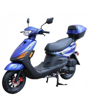 150cc Moped Scooter Razor 150 BLUE with New Design Sporty Look, Black Wheel, Electric and Kick Start, Low Seat Height (Open Box, Seat is surface rip, Brand NEW, SELL AS IS)
