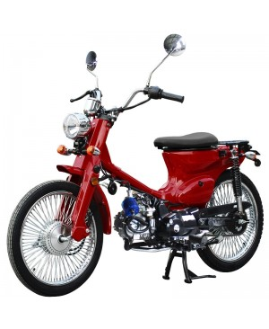 125cc RTX Scooter Moped with manual transmission, classic scooter style