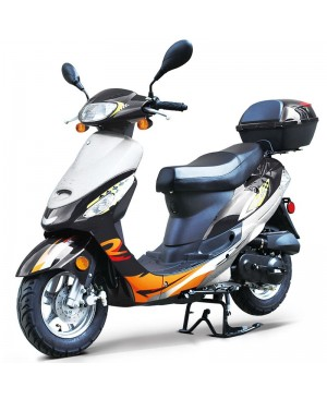 50cc Gas Scooter Moped Black Express with Auto Transmission