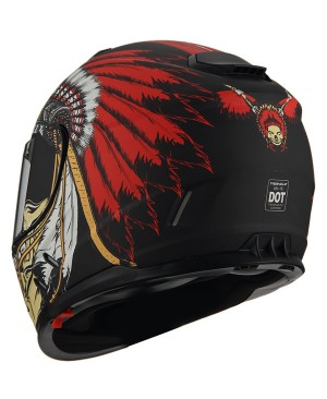AH16- Skull design pink feathers