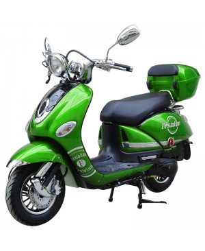 200cc Gas Moped Scooter Vestalian Vespa Style Green, CVT Big Power Engine, Wide Handle Bar