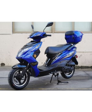 50cc Super 50 Gas Moped Scooter with Big Body, Automatic CVT, 12 inch Aluminum Wheel