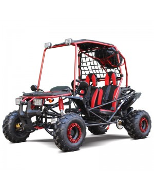 200cc GSX Go Kart RED Full Size for Adult and Big Kids, Auto with Reverse, High Power Engine, Spare Wheel (Open box item, Damage Dash cover, Minor Paint Chip, SELL AS IS)